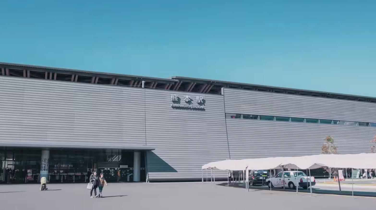 JR熊本駅に行ってきたよ。武者返しをイメージして造られた新駅舎を見に行ってみよー!!