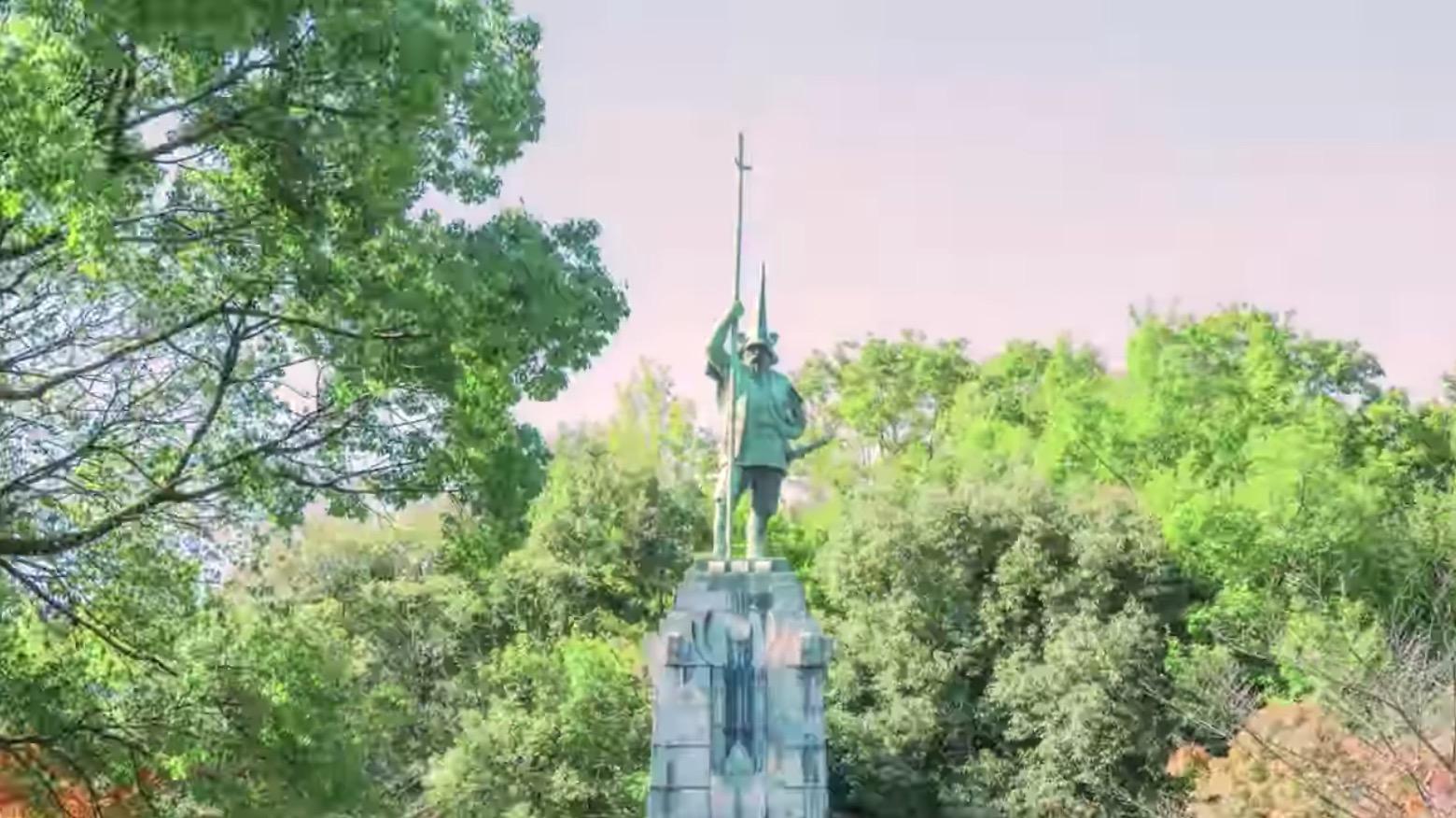 本妙寺清正公立像を見てきたよ。熊本県内で最も大きい加藤清正像ば見らなんたい!!