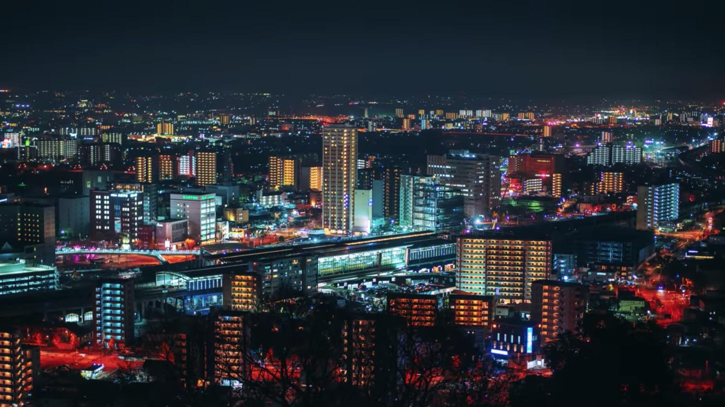 花岡山に行ってきたよ。仏舎利塔と夜景ば見に行かんね?